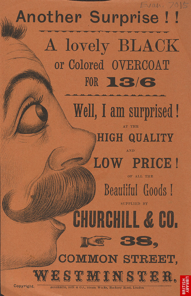 Advertisement for Churchill & Co., clothing store